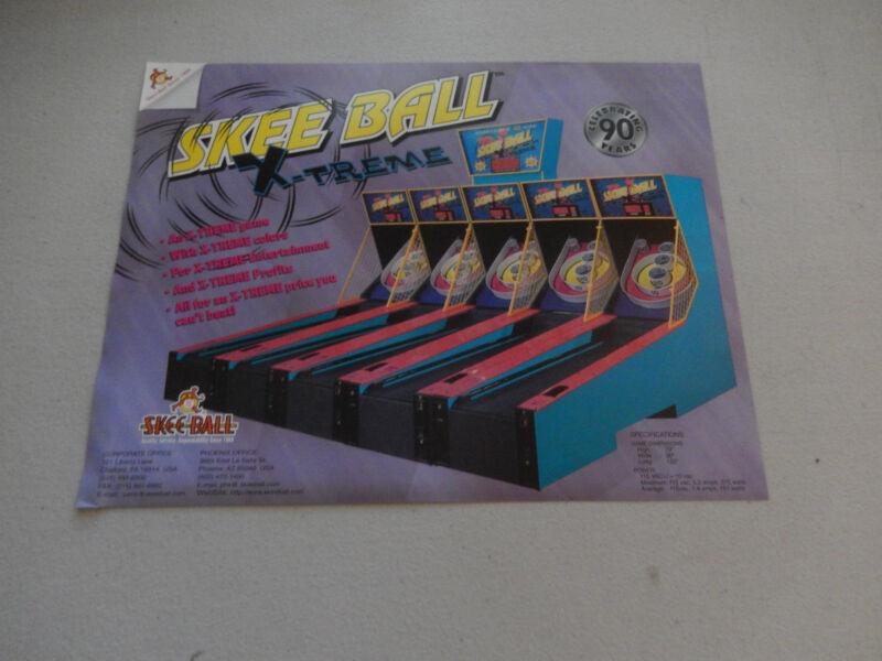 SKEE BALL  X-TREME EXTREME FLYER     arcade game ad
