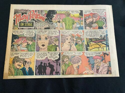 #77 MARY PERKINS ON STAGE by Leonard Starr Sunday Half Page Strip April 22, 1973