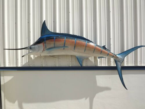 """120"""" Blue Marlin Two Sided Fish Mount Replica - 10 Business Day Production"""