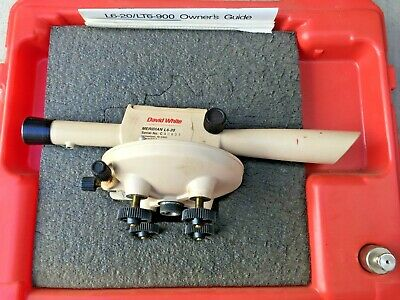 David White Meridian Lp6-20 Optical Transit Level With Case Survey