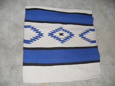 "NEW BEAUTIFULLY DESIGNED NAVAJO WESTERN PAD 30"" X 63"" BLUE / WHITE/ BLACK for sale  Hastings"