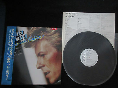 David Bowie Fame and Fashion Japan Promo White Label Vinyl LP w OBI in 1984 Glam