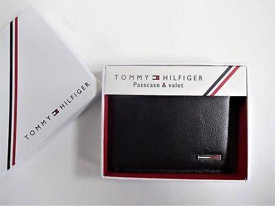 Men's Leather Wallet 'Tommy Hilfiger' Bifold- [Black] MRP£78.00