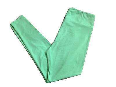 LuLaRoe TC Solid Lime Green Leggings