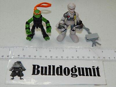 Mikey Vs. Rat King TMNT Mini Mutants Figures Teenage Mutant Ninja Turtles 2008