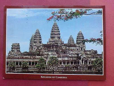 Alte Ansichtskarte Tempel in Angkor, Kambodscha