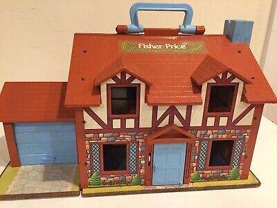 Fisher Price Little People 952 Play Family House Brown Vintage 1980 House Only