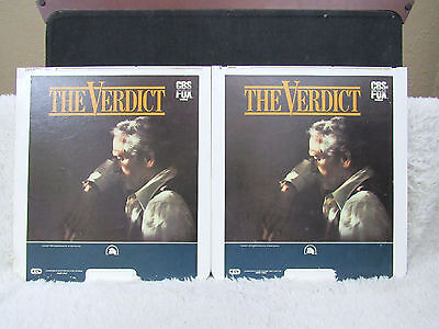Ced Videodisc The Verdict  1982   Cbs Fox Video  20Th Century Fox Parts 1 And 2