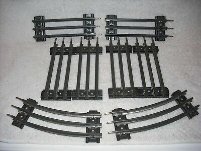 8 Post War Lionel 0 gauge curved/str 3 rail train tracks, 1/2 length  ca. 1952, used for sale  Clearwater