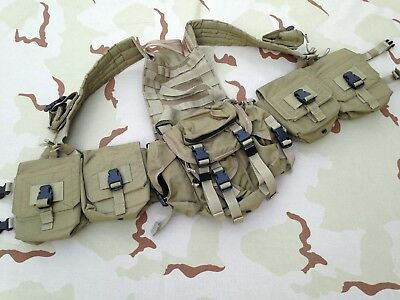 OLDSCHOOL Eagle Ind H-harness Rig w/ LRRP Butt Pack Khaki MLCS NSW Navy SEAL SOF, used for sale  Shipping to United States