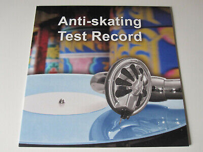 Anti-Skating Test Record NEU Rillenlos Test-Schallplatte Antiskating Spiegel NEW