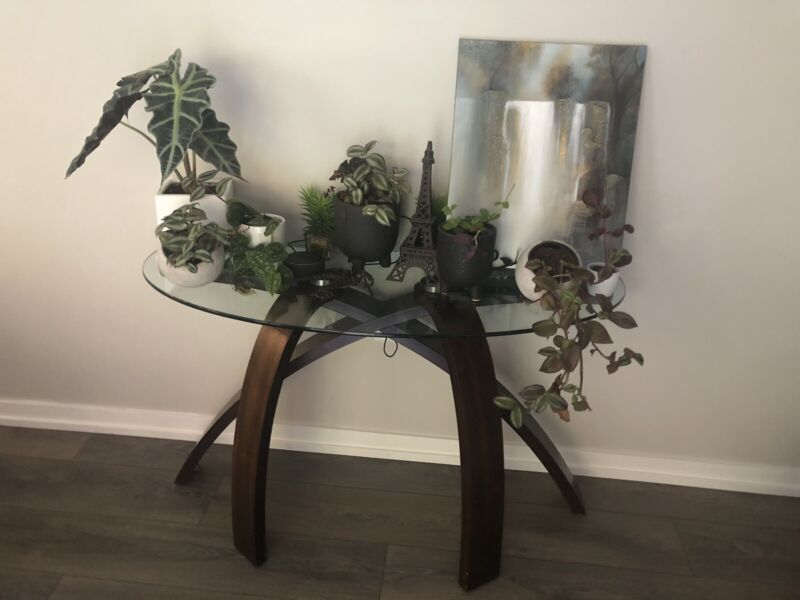 2 entry way tables accent tables