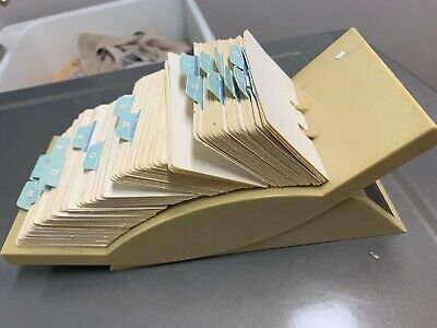 Vintage Desk Rolodex V-glide Gl-24 W 3x5 Index Card File Dividers