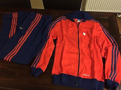 Vintage Adidas Track Suit 1970's Rare Made in West Germany D5  Deadstock