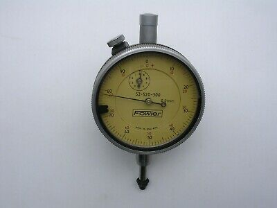 Vintage Fowler Dial Indicator 52-520-300 0.01mm Graduation Full Size