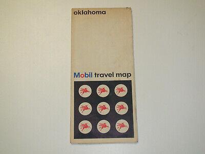 Vintage 1966 MOBIL Oklahoma Travel Road Map