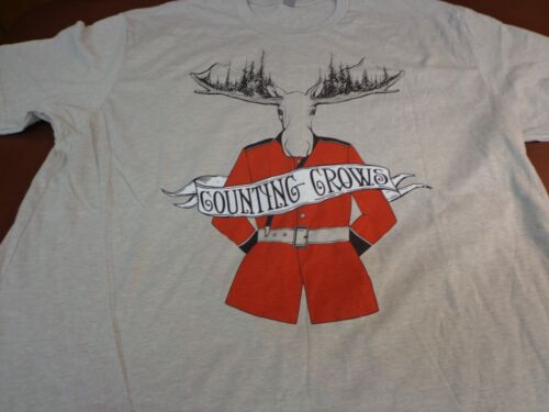 Counting Crows SOMEWHERE UNDER WONDERLAND 2015 Canada Tour T-Shirt  XL Moose  F9