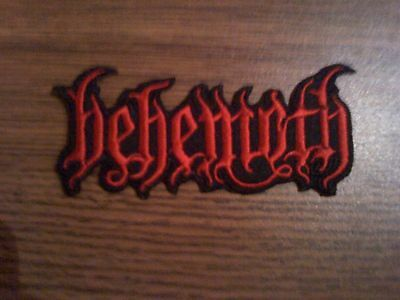 BEHEMOTH,IRON ON RED EMBROIDERED PATCH