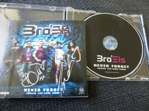 """BROSIS signed Autogramm auf """"NEVER FORGET"""" CD InPerson LOOK"""