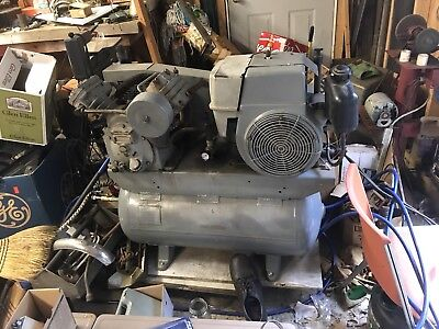Ingersoll-Rand T30 air compressor Mobile Unit Gas Motor Working