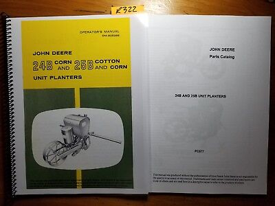 John Deere 24b 25b Corn Cotton Unit Planter Owner Operator Manual 65 Parts