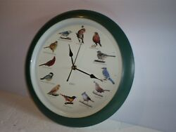 Used 13.5 Quartz Singing Bird Wall Clock