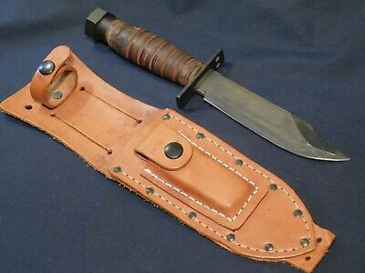 US Pilot Air Crew Survival Fighting Knife Camillus 1985 MINTY w/Scbd