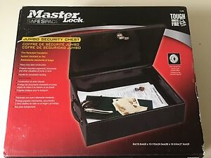Master Lock, safety box still NEW