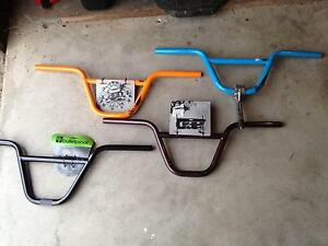 BMX HANDLEBARS  4 PAIR DIFFERENT COLOURS. $30 FOR ALL. East Ballina Ballina Area Preview