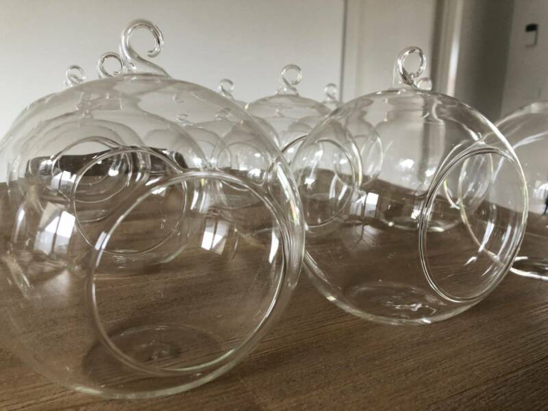 Terrarium Clear Round Glass Vases 15cm