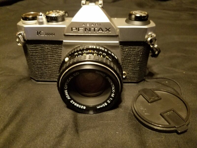 PENTAX K1000  Great Condition with 50 mm lens, light meter does not work.