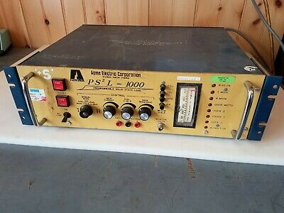 Acme Electric Ps2 L-1000 Pl-70643 Programmable Solid State Load Tested