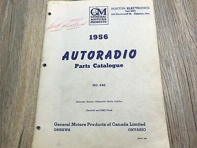 1956 56 CHEVROLET PASSENGER BEL AIR GM DELCO RADIO PARTS CATALOG (36 PAGES)