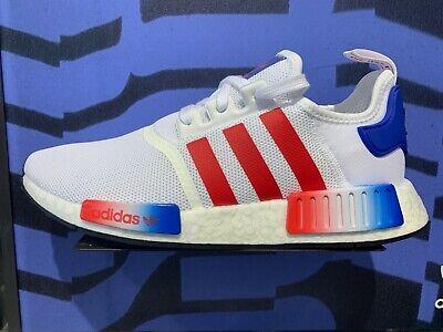 Adidas Originals NMD R1 Red White Navy Blue Americana EG5651 USA GS Men's (Blue Originals)