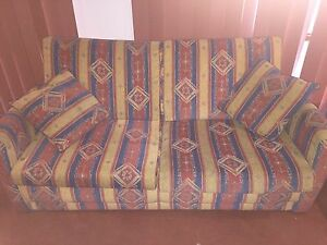 2 seater with arm chair and foot stool Glen Iris Boroondara Area Preview