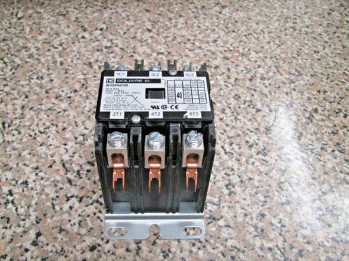 Square D 8910DPA43V09 40A FLA 3PH 3P Open Type Definite Purpose Contactor Used