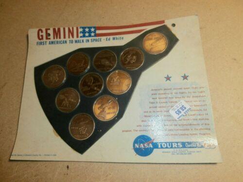 Vintage TWA NASA Tours Gemini 10 Coin Set
