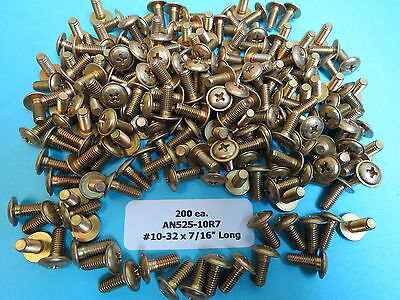 "AN525-10R7 #10-32 x 7/16"" Aircraft Structural Washer Head Phillips Screws (200)"