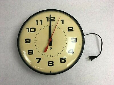 "Vintage 14"" Simplex Model 2310 Industrial School 115V Clock"