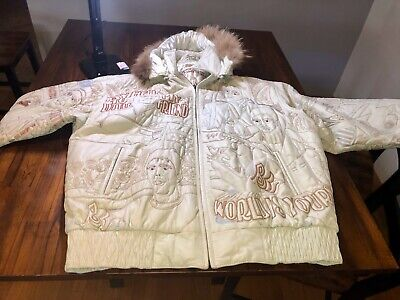 SCARFACE BRAND Scarface Leather Parka Jacket Size 5XL Great Condition