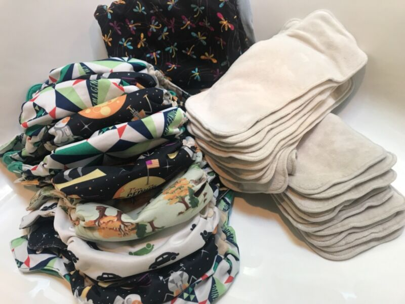10 Bumgenius Elemental cloth diapers 20 bamboo inserts bags All in Ones AIO lot
