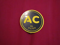 """2 1//4"""" ROUND AC OIL FILTER DECAL STICKER NEW 1947 CHEVROLET 1937 ALL MODELS"""
