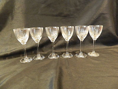 ROYAL CRYSTAL ROCK RCR MAGNOLIA LIQUEUR GLASSES Royal Crystal Rock Magnolia