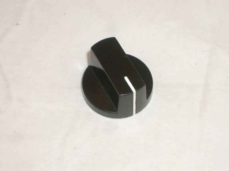 """PHILMORE 3050 RADIO DIAL KNOB RAISED BLACK 1""""D x 0.6""""T 1/4""""  in SHAFT 1PC"""