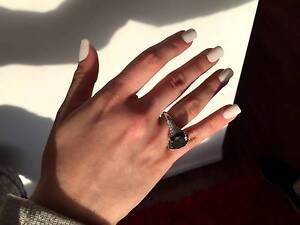NEW 13 Carat RARE Black diamond ring, 14.55 carats in total. Strathfield Strathfield Area Preview