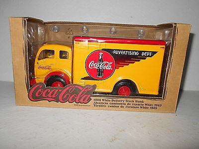 Coca Cola 1949 White Delivery Truck Bank - New in Box