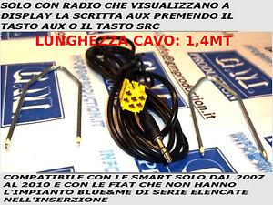 CAVO-AUX-IN-MP3-FIAT-GRANDE-PUNTO-500-159-PANDA-MUSA-SMART-CON-FUNZIONE-AUX-1-4M