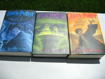 Lot 3 Harry Potter Books 5 6 7 All Hardcover Nice Cnd Fast Shipping