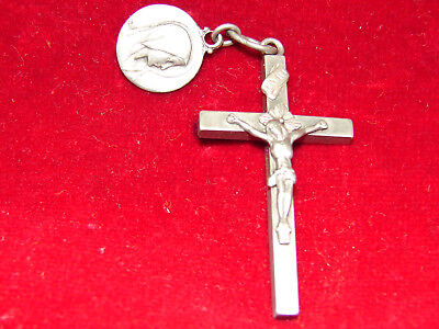 Pretty Antique cross Silver and Medal