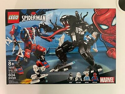 Lego 76115 Spider Mech vs. Venom w/ box booklet stickers No minifigures
